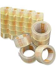 Printation 36er Set 50mm verpakkingstape transparant - sterk, scheurvast en geluidsarm verpakkingstape voor pakketten en pakketten - 36 rollen kleefband 66m elk - sterk en geruisloos afwikkelen