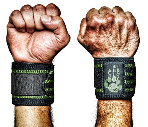 MANIMAL: The Best Weightlifting Straps with Superior Wrist Support, 1 Wrist Wraps Trusted by Professional Powerlifting, Strongman, Crossfit and Olympic Athletes - OD