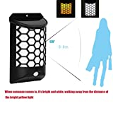 KingWo Solar Landscape Wall Lamp LED Human Body Induction Courtyard Villa Waterproof