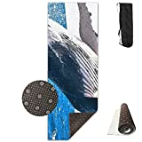 Ocean Fin Whale Marine Dolphins Yoga Mat - Advanced Yoga Mat - Non-Slip Lining - Easy To Clean - Latex-Free - Lightweight And Durable - Long 180 Width 61cm