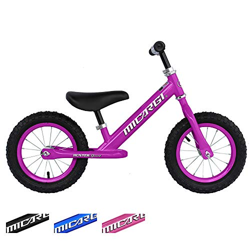 ChromeWheels Balance Bike for Boys & Girls, No Pedal Training Bikes with EVA Inflatable Air Tires, Adjustable Handlebar and Seat, Color Purple