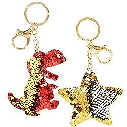 Sequin Flip Sequin Car Key Chains