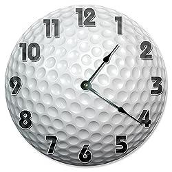 Large 10.5 Wall Clock Decorative Round Wall Clock Home Decor Novelty Clock GOLF BALL