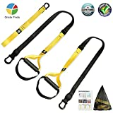 Bodyweight Resistance Fitness Trainer Kit, Home Gym Strength Training Straps, Workout Straps with Anchor Point for Door or Pull Up Bar, Fitness Training Straps for Home, Office, Outdoor, Travel Use