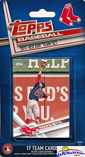 Boston Red Sox 2017 Topps Baseball EXCLUSIVE Special Limited Edition 17 Card Complete Team Set with ANDREW BENINTENDI ROOKIE, Mookie Betts, Chris Sale & Many More! Shipped in Bubble Mailer! WOWZZER