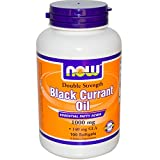 Now Foods Black Currant Oil 1000 mg – 100 Softgels 2 Pack