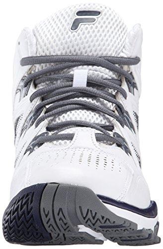 Fila Mens Posterizer Scarpa Da Basket Bianco / Fila Navy / Castlerock