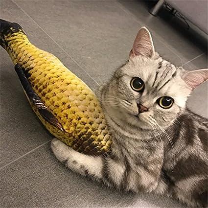 YBpineer Pecera de Juguete para Gato con Forma de pez con Forma de ...