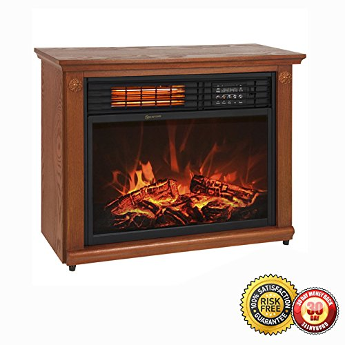 New Large Room Infrared Quartz Electric Fireplace Heater