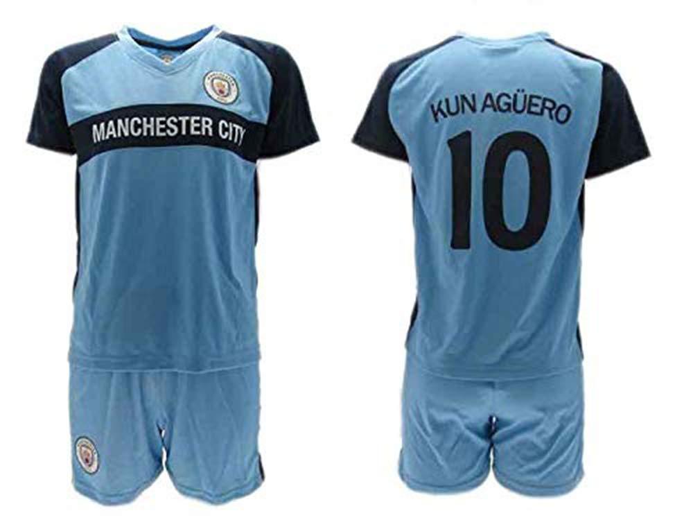 Conjunto Fútbol Sergio El Kun Aguero 10 Manchester City Azul ...