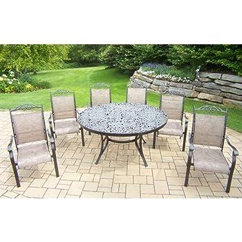 Terrific Amazon Com Oakland Living Cascade 8 Piece Set With 60 Inch Dailytribune Chair Design For Home Dailytribuneorg