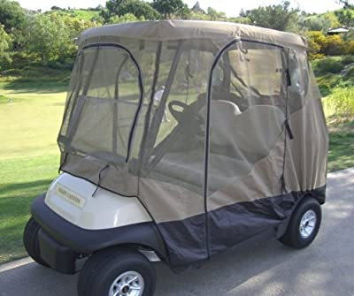 Golf Cart Mosquito Netting Driving Enclosure 2 Seater