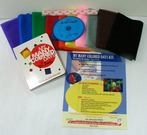 **MULTI-AWARD WINNING** Children's Activity My Many Colored Days Play Scarf Kit with Music CD (Multi Coloured Scarf)