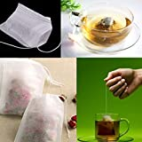 DZT1968 100 pcs Empty Teabags String Heat Seal
