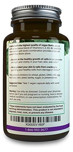BIOTIN-PLUS-5000-mcg-Vitamins-B3-B6-B12-Help-Rejuvenate-Cells-Antioxidants-Vitamins-C-E-Comprehensive-Multivitamin-Biotin-Supplements-to-Nourish-Skin-Hair-Nails-Vegan-Biotin-Pills