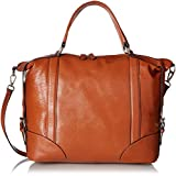 Donna Bella Designs Vivian Leather Shoulder Bag, Brown