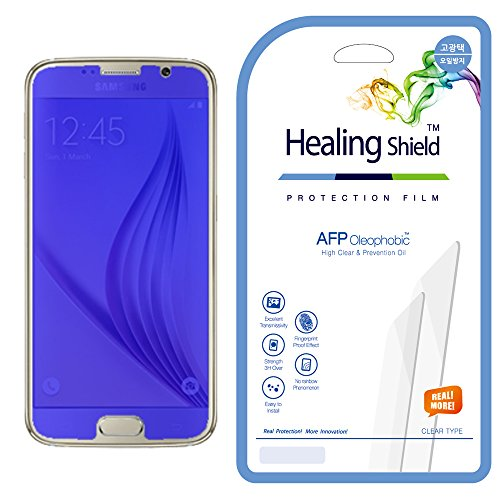 [Healingshield] Samsung Galaxy S6 Clear Type LCD Screen Protector [Front 2pcs + Back 1pc]