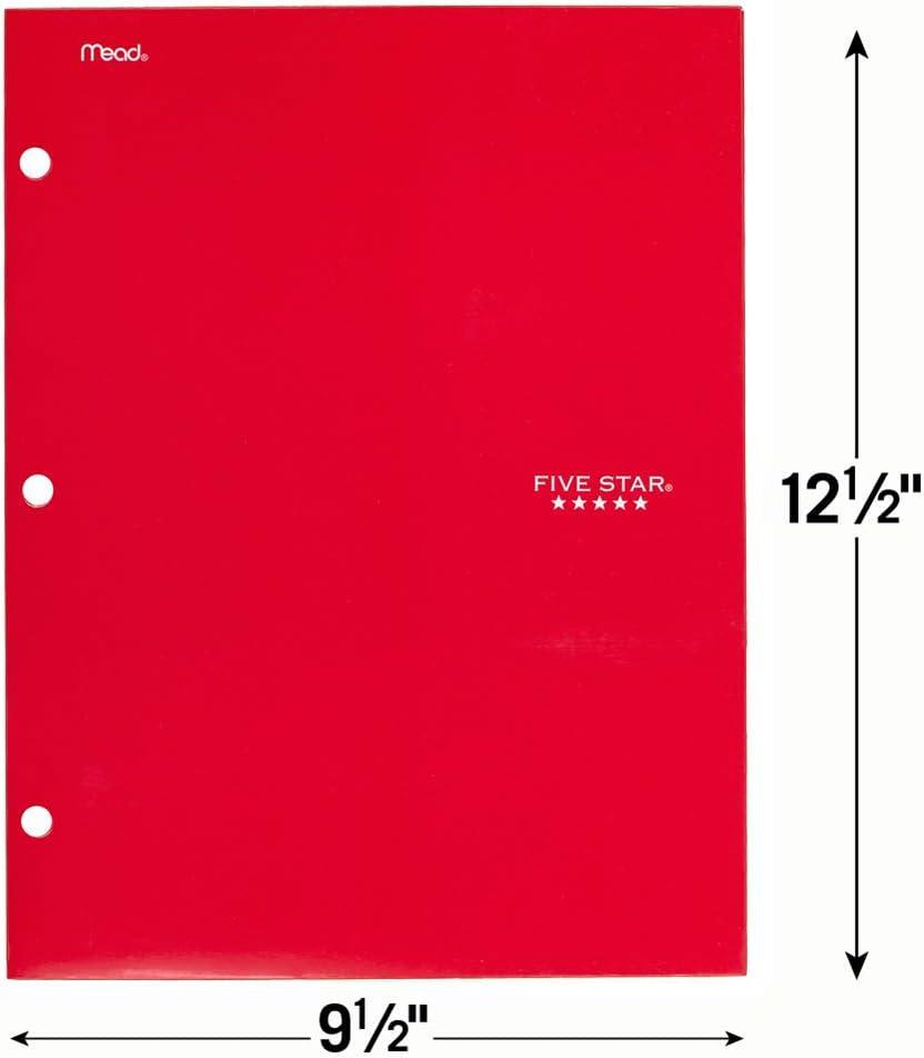 Viertaschen 1 Packung rot F/ünf Star Ordner