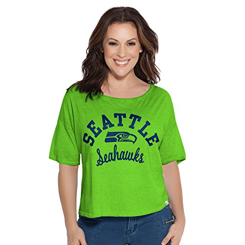 NFL Seattle Seahawks Touch S Base Reversible Tee,Large,Green