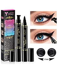 iMethod Wing Eyeliner Stamp - 2 Packs Left & Right Dual Ended Liquid Winged Eyeliner Stamp by iMethod, the Easiest Way to Get Perfect Winged Cat Eye Look, Waterproof, Smudgeproof and Sweatproof