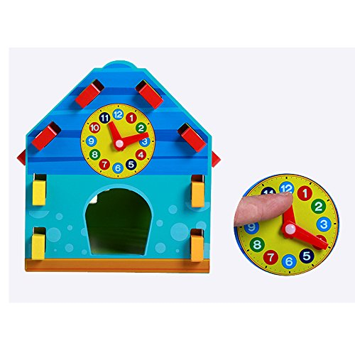 Baby Shape Sorting Houses TelPal Montessori Educational Toy Math Toy for Baby Kid's Gift, Novelty Educational Maths Game Wooden Toys by TelPal (Image #4)