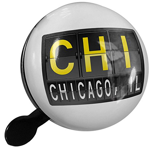 Small Bike Bell CHI Airport Code for Chicago, IL - - Il Airport Chicago