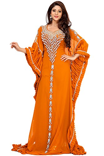 Palas Fashion Women's Farasha Kaftan Dress Orange US Size: 20W