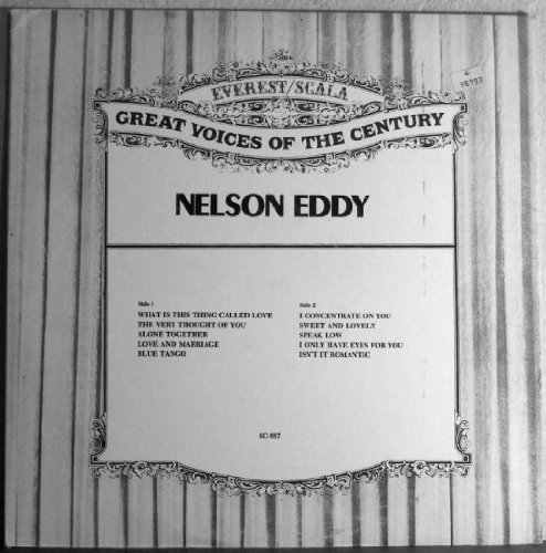 Nelson Eddy with Gale Sherwood: Great Voices of the Century [Vinyl LP] - Sherwood Mall