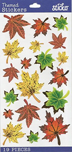 FALL AUTUMN THEMED STICKERS BY STICKO EKSUCCESS BRANDS (1 PACK - 19 STICKERS)