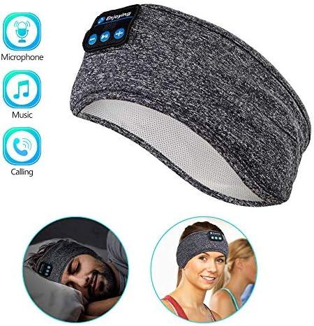 [Gesponsert]Schlaf Kopfhörer Ohrstöpsel - Navly Bluetooth V5.0 Sport Stirnband Kopfhörer mit Ultradünnen HD Stereo Lautsprecher,Perfekt für Sport, Seitenschläfer, Flugreisen, Meditation und Entspannung