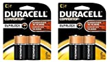 2 Pack of 2 Duracell Alkaline C Batteries Bundled by Maven Gifts