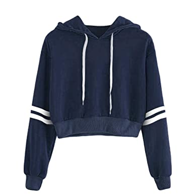 fc6466b85fb65 Rayé Sweat-Shirt Court Blouse Outwear