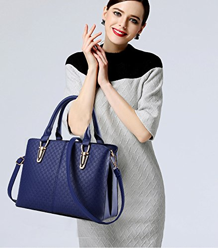 un solo hombro relieve Bolso Bolso bolsos Tisdaini en PU mujer en mensajero cuero Mujer Bolso Calidad Billetero de Zafiro de de Uq0H0T