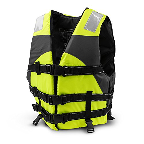 Crown Sporting Goods SBOA-004 Multi-Sport Personal Flotation Device Life Vest, Safety Green