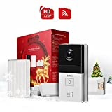 DING WiFi Enabled Video Doorbell Package with Smart Home Hub and WiFi Extender, 2 Pack Door/Window Sensors