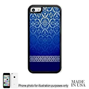 MEIMEISFBFDGR You Love (Not Actual Glitter) - Vintage Blue Gold Damask Pattern Lace iphone 6 plus 5.5 inch Case - BLACK RUBBER by Unique Design GiftsMEIMEI