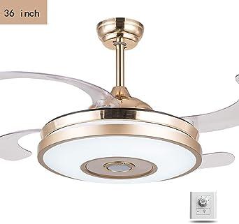 LAZ Ventilador de techo invisible retráctil, 36 pulgadas Moderno ...