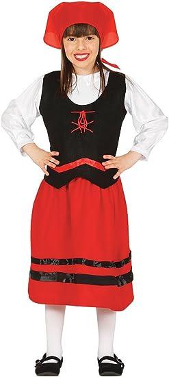 Guirca- Disfraz infantil de pastorcita, Color rojo, 5-6 años ...