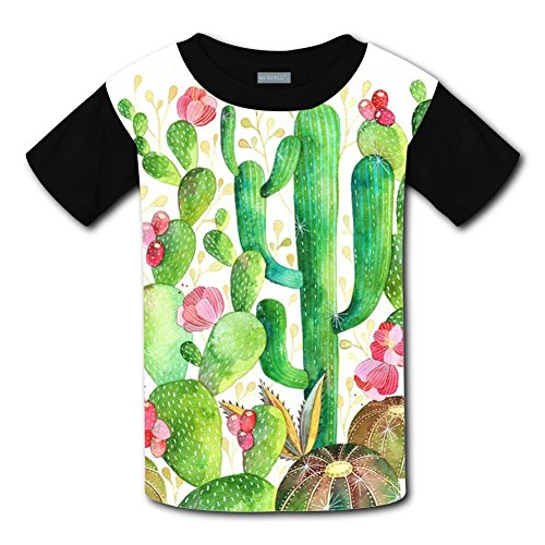 Yangjio T-Shirts Cactus World Costume L Short Sleeve For Kids