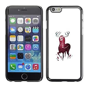 EJOY---Cubierta de la caja de protección la piel dura para el ** Apple Iphone 6 Plus 5.5 ** --Cuernos Elk ciervos