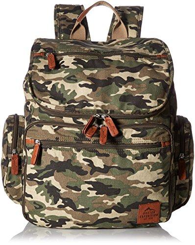 Buxton Men's Expedition Ii Huntington Canvas Backpack, Camo