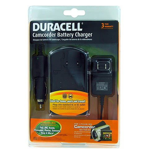 Hi-Capacity Duracell Camcorder Battery Charger for Fuji K...