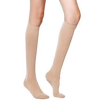 eyotto médica rodilla alta calcetines de compresión para hombres mujeres, 1 par elástico medias alivio