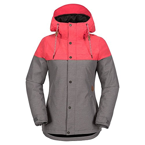 Volcom Junior's Bolt Insulated 2 Layer Shell Snow Jacket, Bright Rose, Medium