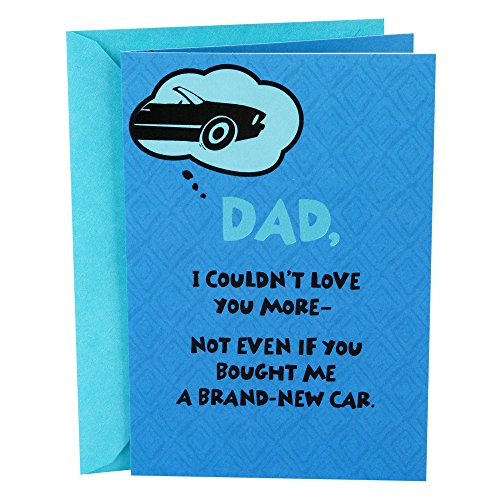 Hallmark Funny Mahogany Father's Day Greeting Card for Dad (Blue Car I Couldn't Love You More) (Car Day Fathers)
