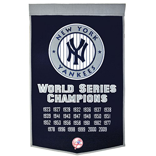 New York Yankees Embroidered 36x24 Wool Banner