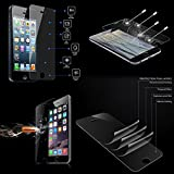 iPhone 5 / 5C / 5S - Premium Tempered Glass Screen Protector Combo - 9H Hardness, 2.5D Rounded Edge, Ultra Thin 0.33mm, Oleophobic Coating, HD Clarity, Anti-Scratch, Anti-Fingerprint, Bubble Free, Explosion-Proof and Pressure Resistant Function - 2 Pcs (Front & Back Glass) - Retail Packaging