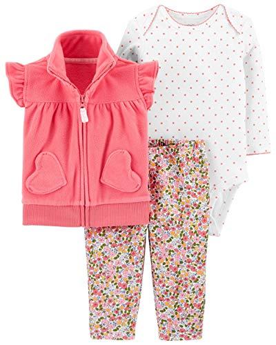 Carter's Baby Girls' Vest Sets (Newborn, Pink/Multi)