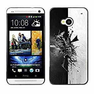 Planetar? ( Abstract Black & White ) HTC One (M7)hard printing protective cover protector sleeve case
