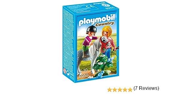 Playmobil Granja de Ponis - Paseo con Poni (6950): Amazon.es: Juguetes y juegos